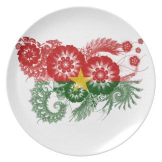 Burkina Faso Flag Dinner Plate