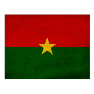 Burkina Faso Flag Postcard