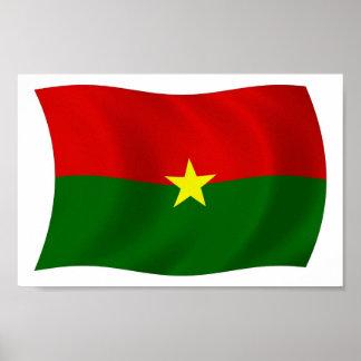 Burkina Faso Flag Poster Print