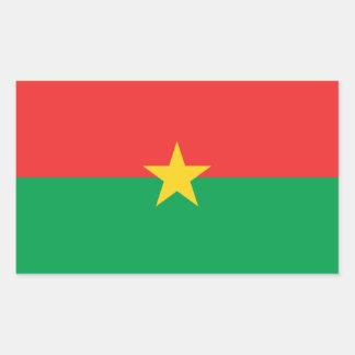 Burkina Faso Flag Rectangular Sticker
