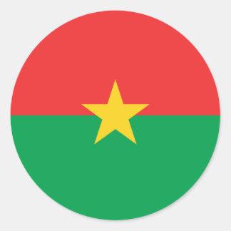 Burkina Faso Flag Round Stickers