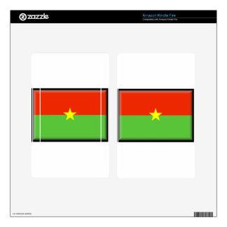 Burkina Faso Flag Kindle Fire Decals