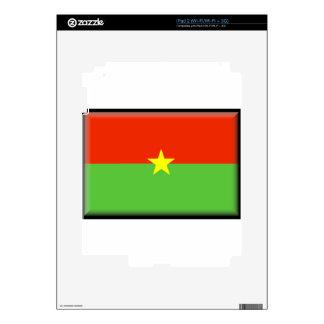 Burkina Faso Flag Skins For iPad 2