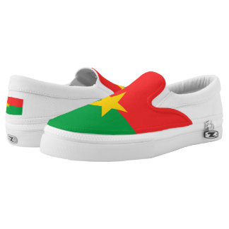 Burkina Faso Flag Slip-On Sneakers
