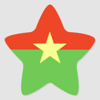 Burkina Faso Flag Star Sticker