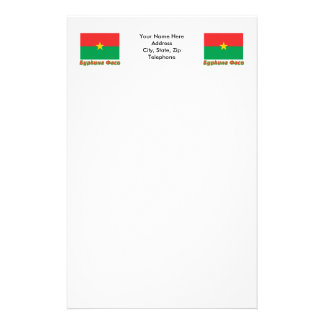 Burkina Faso Flag with name in Russian Stationery