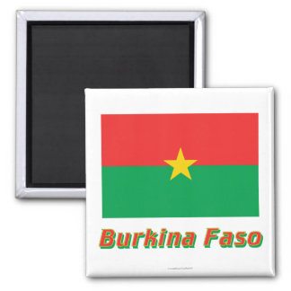 Burkina Faso Flag with Name Magnet