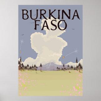 Burkina Faso landscape travel poster print