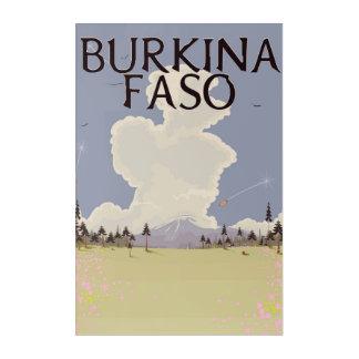 Burkina Faso landscape travel poster print Acrylic Wall Art