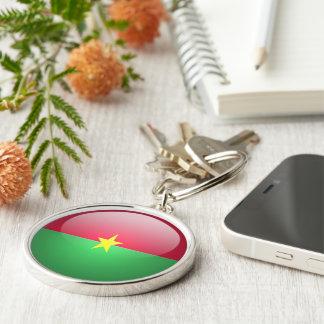 Burkina Faso - llavero redondo superior