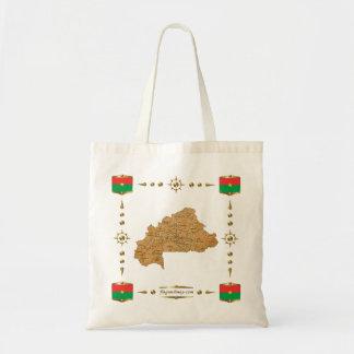 Burkina Faso Map + Flags Bag