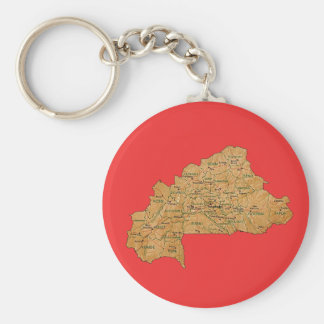 Burkina Faso Map Keychain