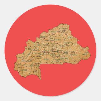 Burkina Faso Map Sticker