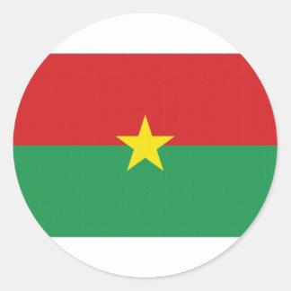 Burkina Faso National Flag Classic Round Sticker