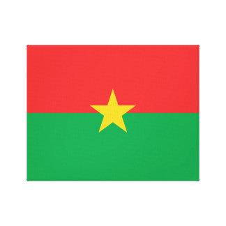 Burkina Faso National World Flag Canvas Print