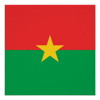 Burkina Faso National World Flag Poster