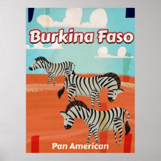 Burkina Faso vintage travel poster