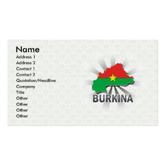 Burkina Flag Map 2.0 Business Card