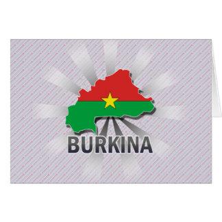 Burkina Flag Map 2.0 Greeting Card