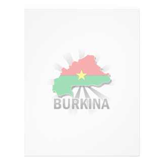 Burkina Flag Map 2.0 Letterhead Design