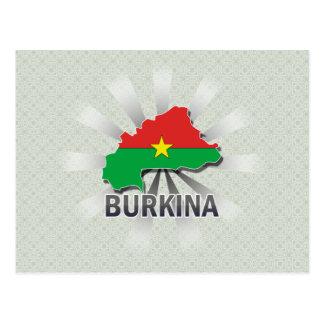 Burkina Flag Map 2.0 Postcard