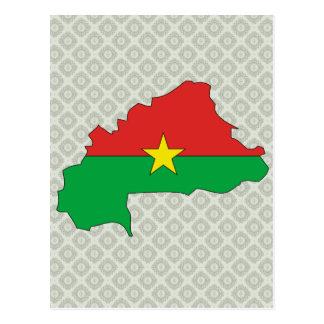Burkina Flag Map full size Postcards
