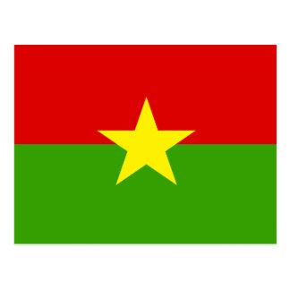 Burkina High quality Flag Postcards