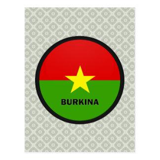 Burkina Roundel quality Flag Post Card