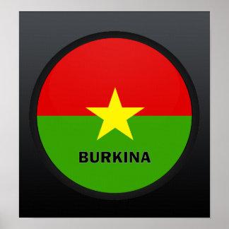 Burkina Roundel quality Flag Poster