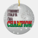 Burkinabe and a Champion Ornaments
