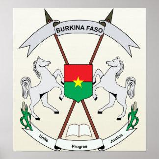 Burkinafaso Coat of Arms detail Print
