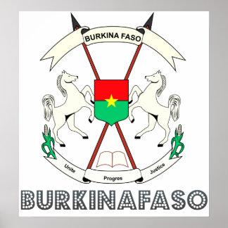 Burkinafaso High Quality Coat of Arms Poster