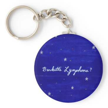 Beach Themed Burkitt's Lymphoma keychain