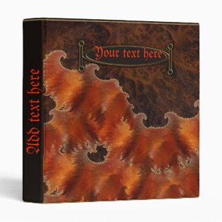 burl flame vinyl binder