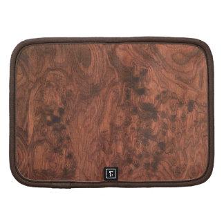 Burl Mahogany Wood Texture Folio Planners
