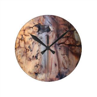 Burl Wood Design Clock