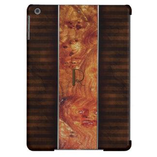 Burl Wood Look Monogrammed iPad Air Case