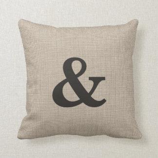 Burlap Ampersand Pillow