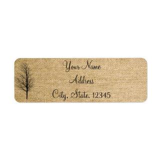 Burlap and Birch Posh Wedding Label