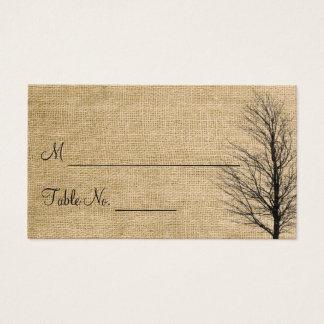 Burlap and Birch Posh Wedding Place Cards