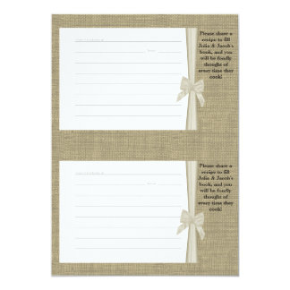 Burlap and Bow Recipe Cards