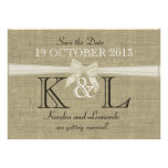 Burlap and Bow Save the Date Personalized Announcement