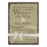 Burlap and Bows Rustic Wedding Personalized Invite
