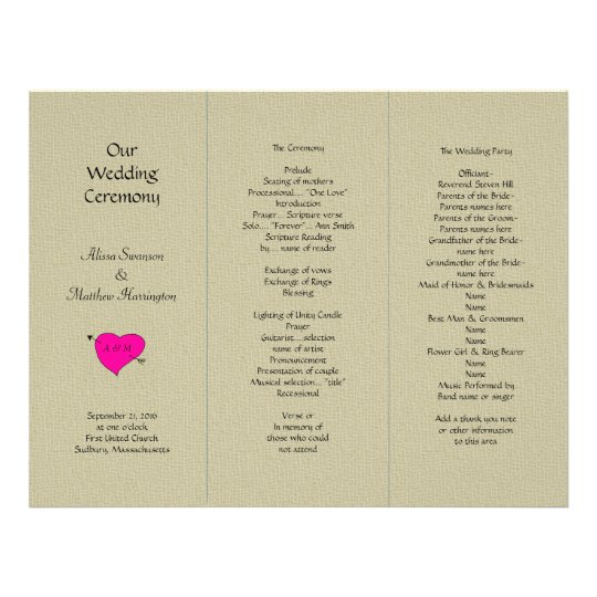 tri fold wedding programs koni polycode co