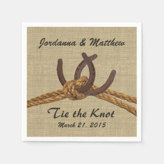 Burlap and Horseshoes Napkin