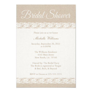 Burlap and Lace | Bridal Shower Card