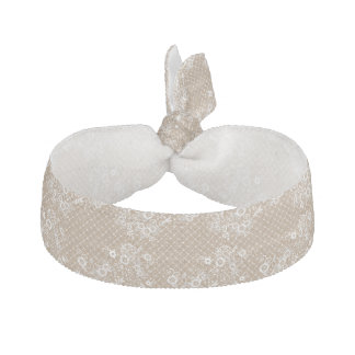 Burlap and Lace Hair Tie