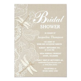 Burlap and Lace Rustic Bridal Shower Card