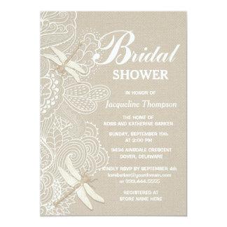 Burlap and Lace Rustic Bridal Shower Invitation