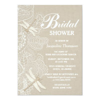 Burlap and Lace Rustic Bridal Shower Invitation